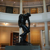 Rodin's graceful statue of Adam greets guests in the entry rotunda of Tulsa's Philbrook Museum of Art, which is housed in an Italian villa that was once the private home of an oilman.  The museum features works from around the world, but specializes in European art.