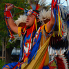 American Indian dance and regalia add to the festive environment of the annual Magnolia Festival in downtown Durant.