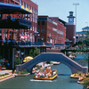 The canals of the Bricktown Entertainment District in downtown Oklahoma City are lined with restaurants and nightlife spots.  Water taxis offer tours of the area and serve as transportation along the canal.