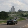 Tulsa appears on the horizon from this highway approach.