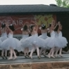Young ballerinas perform during Norman's May Fair festival.
