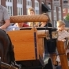 Enjoying a carriage ride through the historic streets of the Bricktown Entertainment District in downtown Oklahoma City is a favorite activity for families and couples.