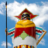 This giant Kachina stands outside the National Route 66 Museum in Elk City like a sentinel.  She once stood in front of Queenan's Trading Post, another Route 66 icon.