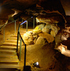 Alabaster Caverns State Park near Freedom is home to the world's largest publicly-toured gypsum cave.  The cave tour includes interpretation by a guide and a well-lit path.