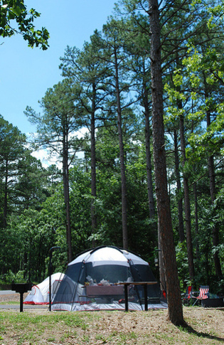 The Cedar Lake campground in the Ouachita National Forest provides a scenic area and plenty of serenity for campers in this uncrowded outdoor recreation jewel.
