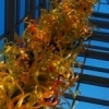 The Oklahoma City Museum of Art features the world's tallest Dale Chihuly tower.  Standing 55-foot tall, this glass tower graces the entrance to the museum.