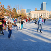 An outdoor ice skating rink in downtown Oklahoma City is one of the most popular features of the Downtown in December celebration each year.  Families flock to the rink to take a spin on the ice and enjoy their holiday time together.