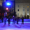 Oklahoma City's Downtown in December event brings families together at the outdoor ice skating rink.  Visitors can take to the ice for a while and then warm up with a cup of hot chocolate while Christmas carols play in the background.