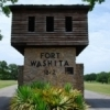 Fort Washita near Durant was established in 1842 to protect the recently relocated Chickasaw tribe from the western tribes who considered the land part of their hunting grounds.  Troops were also stationed at the fort during the Civil War.