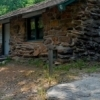 The historic cabins at Greenleaf State Park were built by the Civilian Conservation Corps and the Works Progress Administration during the 1930s.  Here, the native stone architecture of cabin #6 is highlighted.