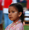 Even the youngest participants get in on the dancing and fellowship at the Standing Bear Powwow in Ponca City.