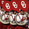 The University of Oklahoma's homecoming parade during football season is a cause for celebration in Norman.  Here, the tuba section of the Pride of Oklahoma marching band struts its stuff.