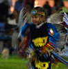 A youngster participates in the dancing at the Standing Bear Powwow in Ponca City.