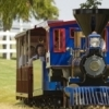 Visitors to the Orr Family Farm in Oklahoma City can ride a small-scale replica Jupiter locomotive around the farm grounds.  Petting stations, pony rides, a carousel, maze and more are also available at the farm.