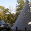 At Roman Nose State Park in Watonga, campers can elect to rent teepees as overnight lodging.  The park was named after Cheyenne Chief Roman Nose and is nestled amidst beautiful canyonlands.