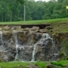 The golf course at Lake Murray State Park in Ardmore features a natural waterfall that has been incorporated into the course.