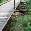 A foot bridge carries hikers over a small stream at the Chickasaw National Recreation Area in Sulphur.  Eight major trails of varying length and difficulty are found in the area, along with many smaller trails to transport hikers through forests and prairies.