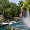 The log ride at Frontier City amusement park in Oklahoma City takes riders for a leisurely float through a twisting river before they climb a steep hill and splash down in a cool spray.