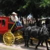 Stagecoach rides are a crowd favorite at the Chuck Wagon Gathering & Children's Cowboy Festival held each year on the grounds of the National Cowboy & Western Heritage Museum in Oklahoma City.