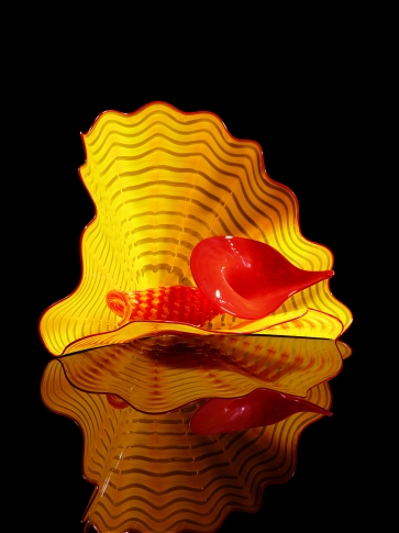 A piece of Chihuly glass in the gift shop of the Oklahoma City Museum of Art.