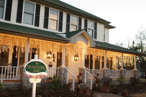 The sun sets over The Montford Inn, a popular bed and breakfast in Norman.  During the filming of the movie Twister, Helen Hunt elected to stay at the Montford Inn to enjoy the peaceful environment and great hospitality.