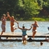 A platform anchored in Lake Carlton at Robbers Cave State Park near Wilburton offers endless hours of fun for swimmers on hot summer days.