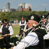 The Oklahoma Scottish Festival, also known as Scotfest, takes place with the downtown Tulsa skyline in the background.