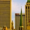 The downtown Tulsa skyline features stunning architecture and prime specimens of art deco design.  Visitors can pick up a map and take a walking tour of art deco highlights including structures designed by Frank Lloyd Wright and Bruce Goff.