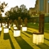 Each chair in the Field of Empty Chairs on the grounds of the Oklahoma City National Memorial represents one of the 168 people killed in the Murrah Federal Building bombing on April 19, 1995.