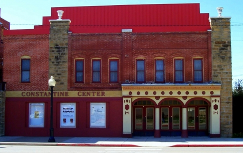 The elegantly-remodeled Constantine Theatre is one of Pawhuska's most treasured jewels.