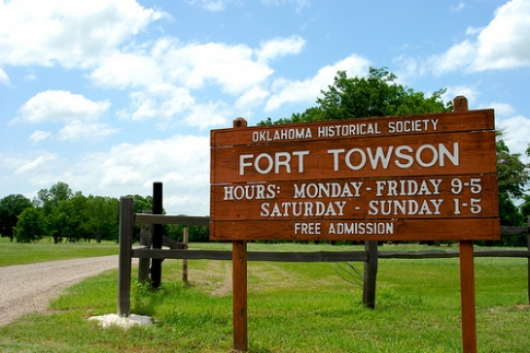 Built in 1824, Fort Towson was on the border between two countries – the U.S. and Mexico.