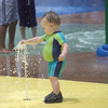 A tot enjoys the spray park at Lake Wister State Park in southeastern Oklahoma.