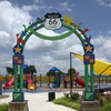 The Route 66 Park in Oklahoma City pays homage to the Mother Road and features a playground, interpretive plaza, watchtower on the shore of Lake Overholser and wetlands with boardwalks.