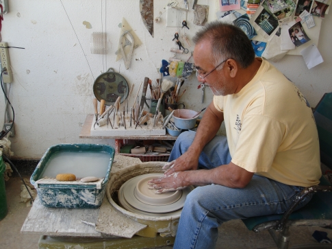 Mel Cornshucker's pottery on Brady Street