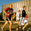 Each year the Oklahoma City Memorial Marathon hosts runners who celebrate the triumph of the human spirit with a full marathon, half marathon, marathon relay, 5K walk and kid's marathon. Here, runners pass one of the monumental Gates of Time on the grounds of the National Memorial where the infamous Oklahoma City bombing took place.