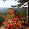 Robbers Cave State Park's hiking trails offer breathtaking vistas over the Sans Bois Mountains near Wilburton in eastern Oklahoma.