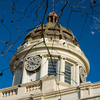 The Carter County Courthouse in Ardmore was designed and constructed in 1910 with a rich combination of architectural elements. The courthouse combines Neoclassical architecture with colossal Doric columns, Classical detailing and Ionic columns on the dome.