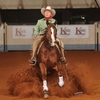 A rider competes in the The National Reining Horse Association Futurity & Adequan Championship Show in Oklahoma City. The show offers over $2 million in prize money and draws competitors from 20 countries.