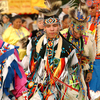 Dancers display spectacular regalia at the annual Peoria Powwow in Miami.