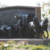This memorable sculpture greets guests to the Chisholm Trail Heritage Center in Duncan.