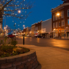 Christmas lights brighten holiday spirits in the historic downtown area of Main Street in Ardmore.