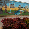 This colorful mural is displayed on a Main Street building in Sulphur.