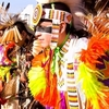 American Indian dancers parade in full regalia during Miami NOW: Native Oklahoma Weekend in Miami.