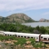 The Quartz Mountain Flyer train in southwest Oklahoma takes passengers on a journey through the rugged and beautifully scenic Quartz Mountain area.