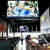 Giant screen televisions make the RePUBlic Gastro Pub in Oklahoma City a fun place to eat while watching sporting events.