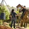 Enjoy the feel of the Old West and go horseback riding at Rusty Gables Guest Lodge in Oklahoma City.