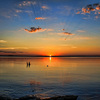 Hot summer nights can produce magnificent sunsets over Lake Eufaula.  Lake Eufaula is Oklahoma's largest lake and home to Lake Eufaula State Park and the Arrowhead Area at Lake Eufaula State Park .