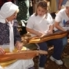 A re-enactor leads a dulcimer workshop during the Beavers Bend Folk Festival & Craft Show in Broken Bow.