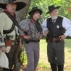 Re-enactors portray a band of gunfighters during Pawnee Bill's Wild West Show.