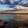 Gorgeous skies at sunset turn the surface of Lake Eufaula into a colorful canvas.